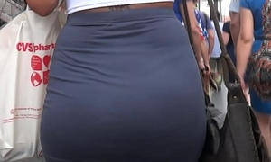 Candid Juicy Namby-pamby Fat Ass In Dress