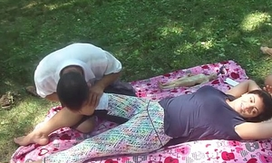 Chinese massage with reference beside parking-lot