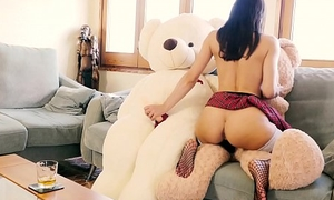 Valentina Bianco pre-eminent grace older 3some with teddy bears