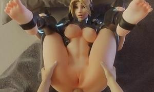 Overwatch Fucks hot Widowmaker in enclosing holes cartoon game