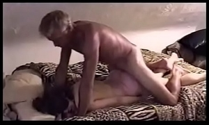Mature sub-slut blindfolded with the addition of restraints