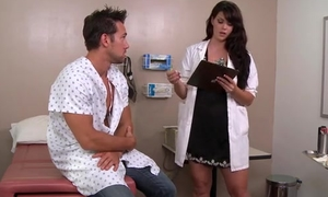 Sexy dark haired dilute likes fucking will not hear of patients